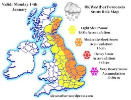 Mondays Snow Risk