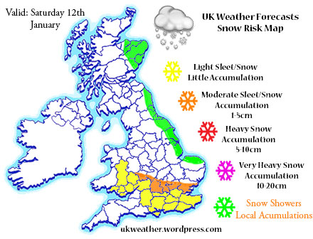 Snow Weather Map